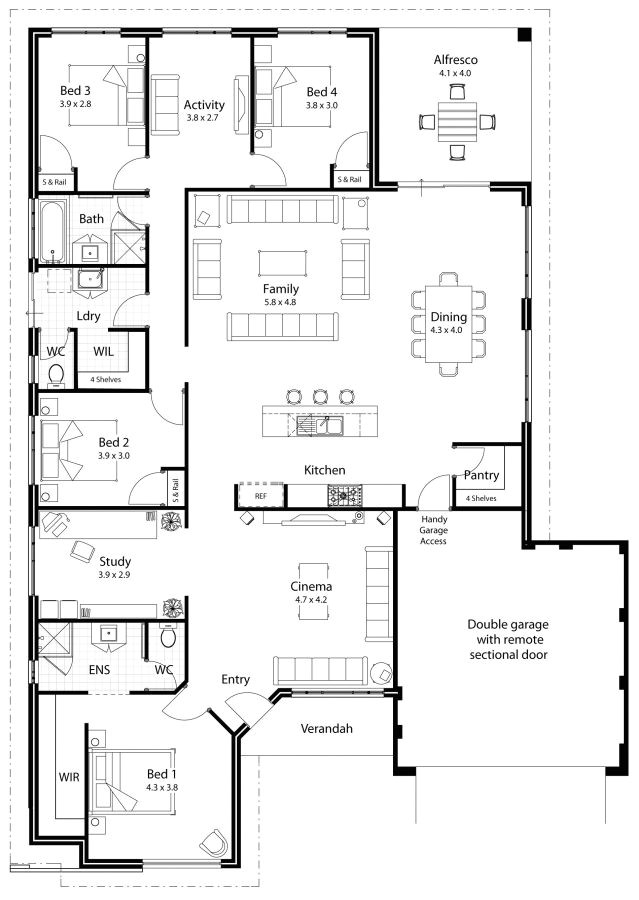 plans maison en photos 2018 dream house plan separate wings for bedrooms separate living area for kids op