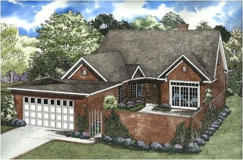 House Plans with Front Courtyards 4 Bedroom 3 Bath Traditional House Plan Alp 06wy