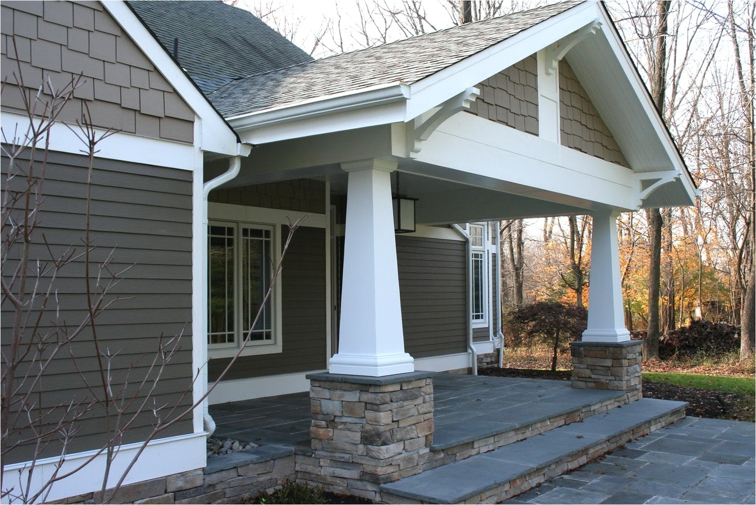 10687 craftsman style front porch columns