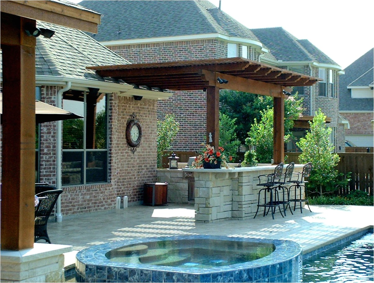outdoor kitchen designs with pool
