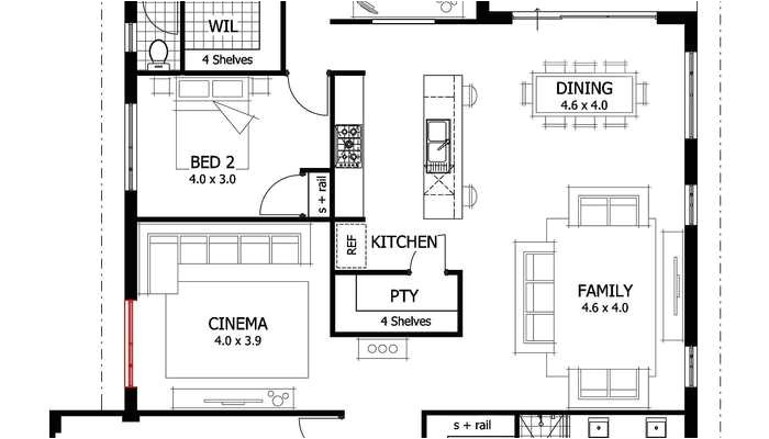 House Plans with Separate Kitchen Open Kitchen Floor Plan Small Kitchen Open Floor Plan 2