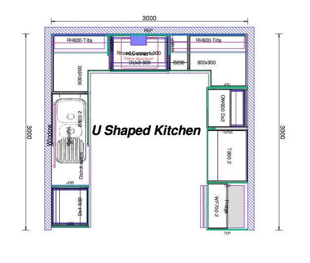 House Plans with U Shaped Kitchen top 20 U Shaped Kitchen House Plans 2018 Interior