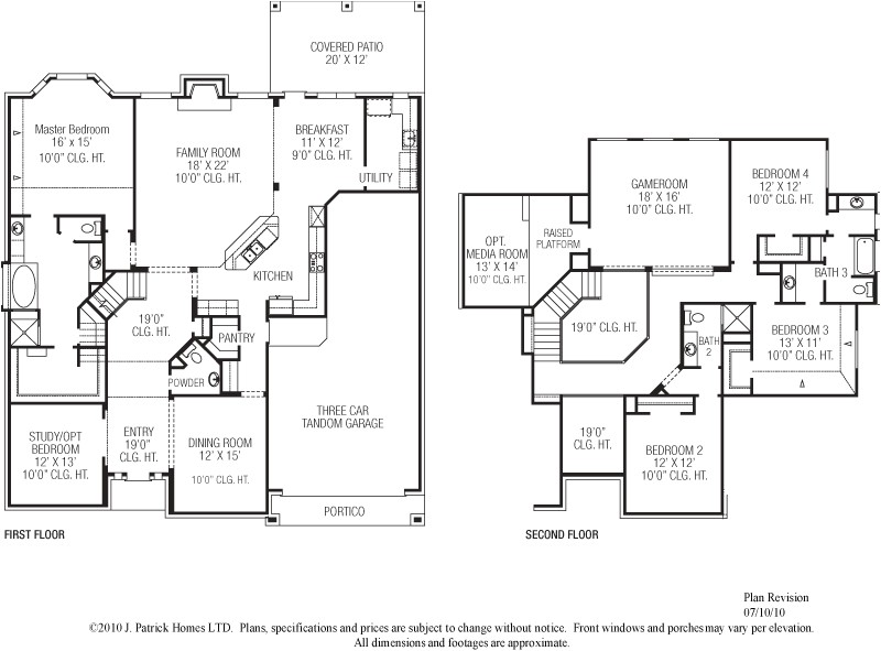 houston custom home builders floor plans