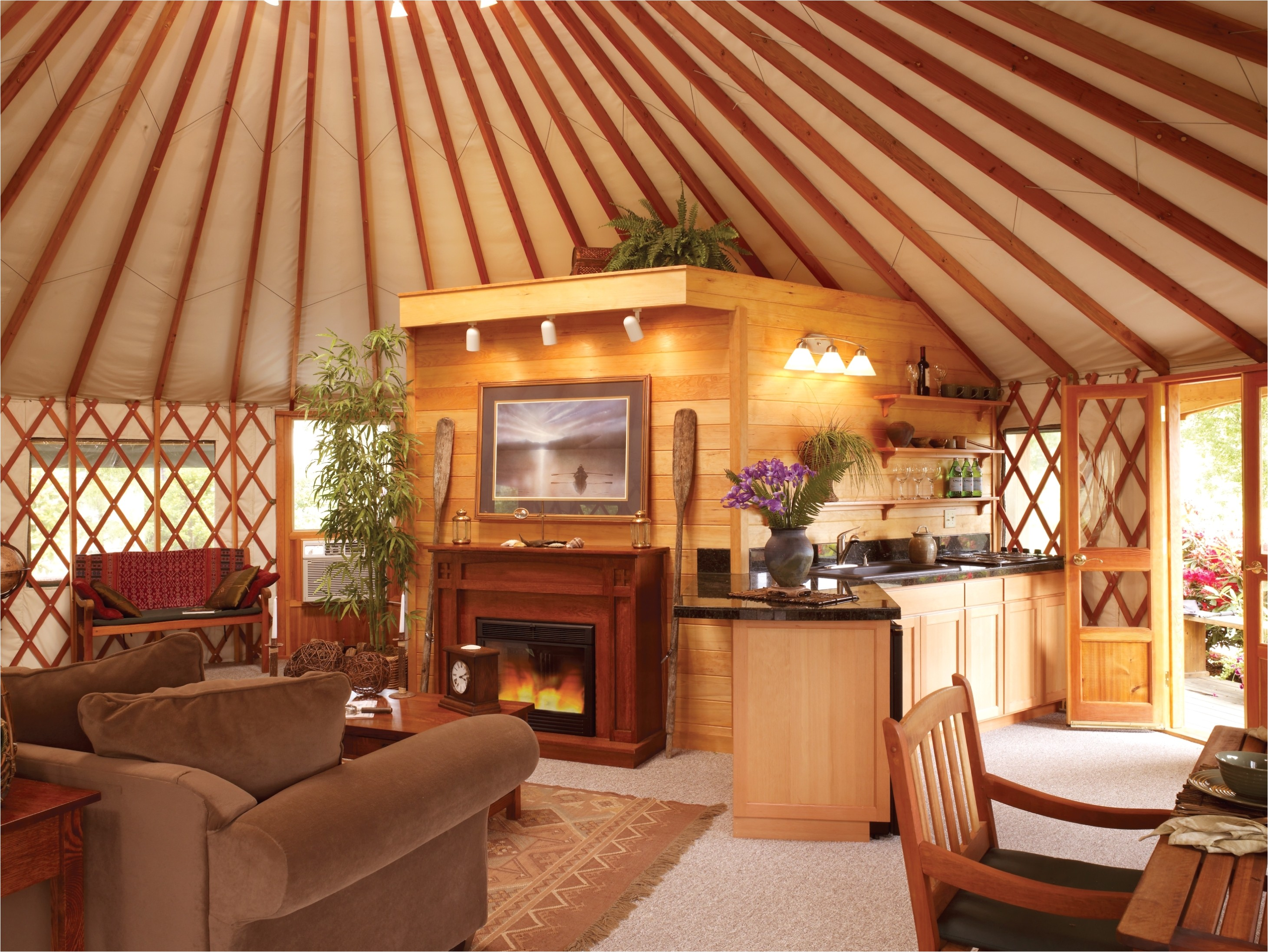 Inside Home Plans Glamping with Pacific Yurts Business Wire