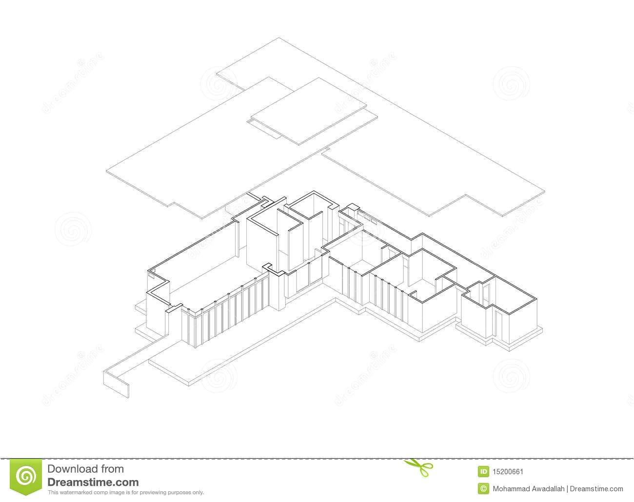 stock image jacobs house exploded isometric drawing image15200661