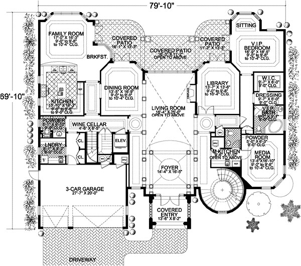 8441 sq ft home 3 story 6 bedroom 5 bath house plans plan37 198