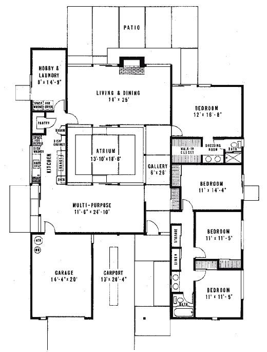 eichler homes floor plans best of joseph eichler floor plans courtyard houses plans pinterest