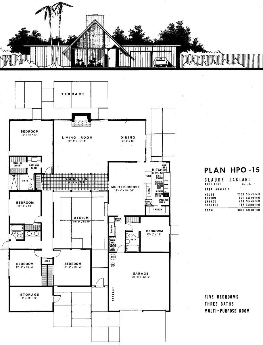 modern house plans eichler