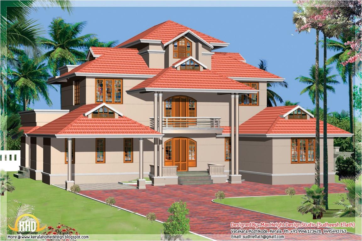 kerala style beautiful 3d home designs