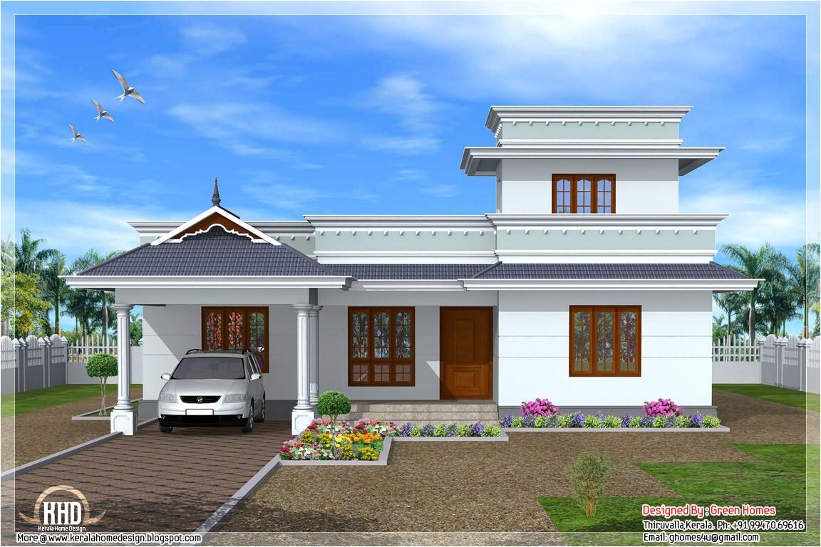 one floor house kerala