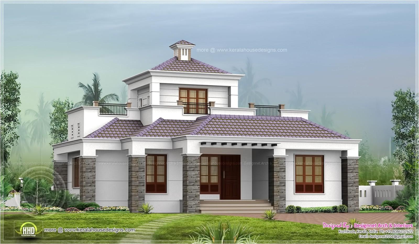 single floor home stair room kerala design 2
