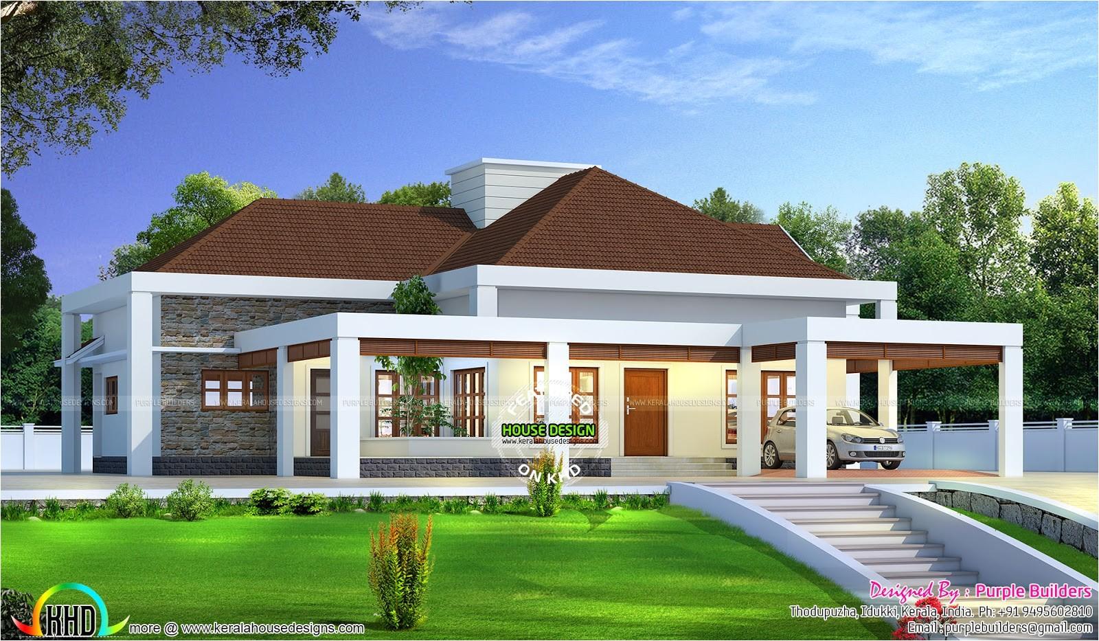 stunning single floor house above road