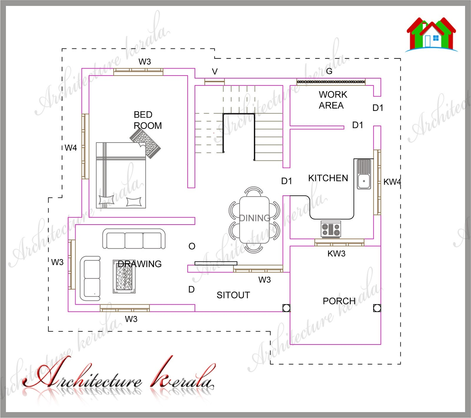 1300 square feet house plans kerala