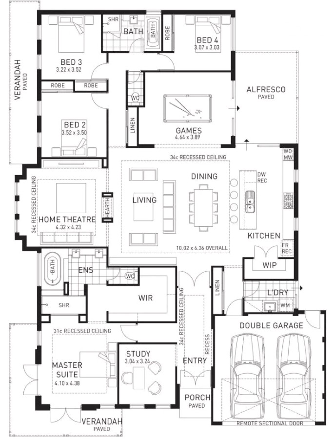 floor plan friday kids at the back parents at the front