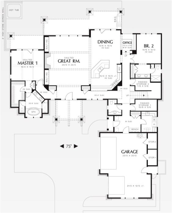 lake house plans with two master suites