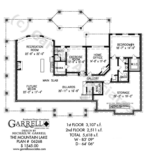 mountain lake house plan