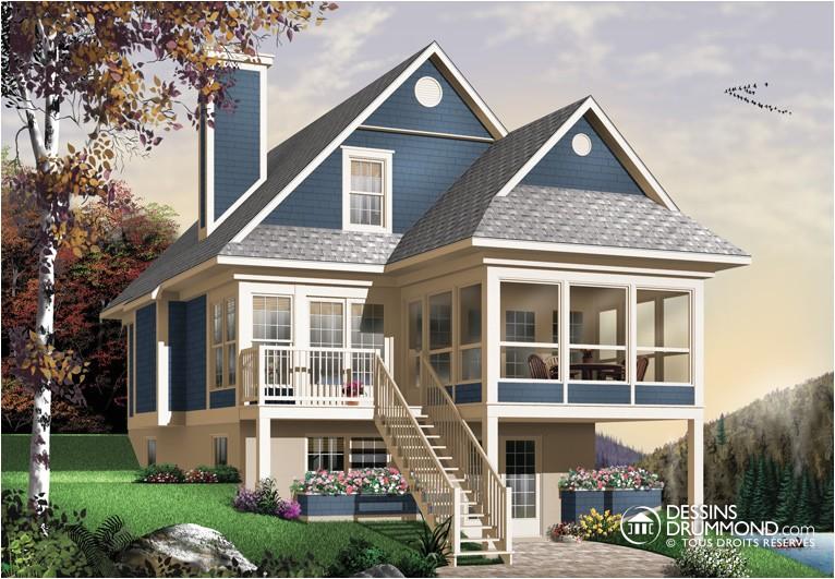house plan maison chalet cottage w4916a