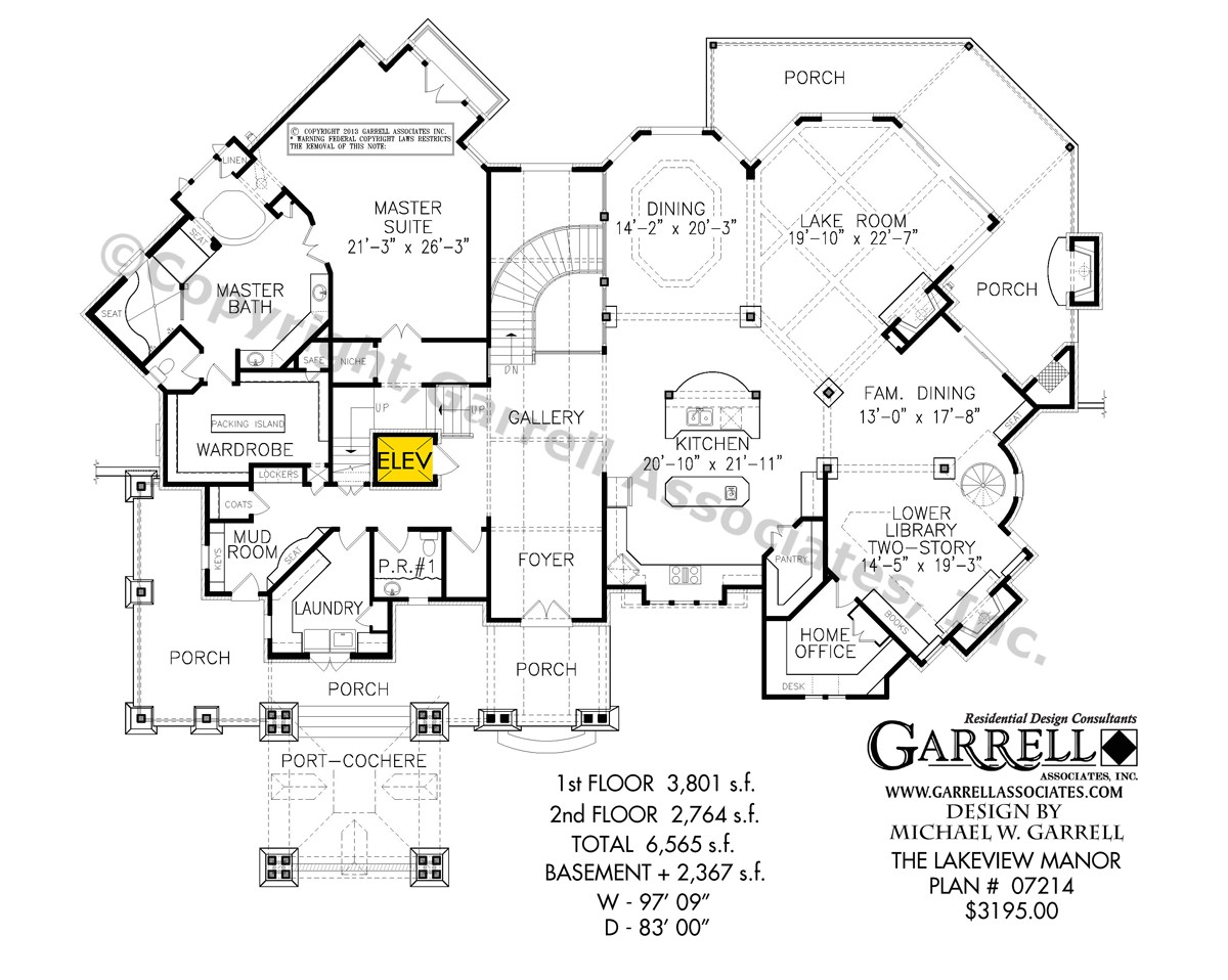 lakeview manor house plan