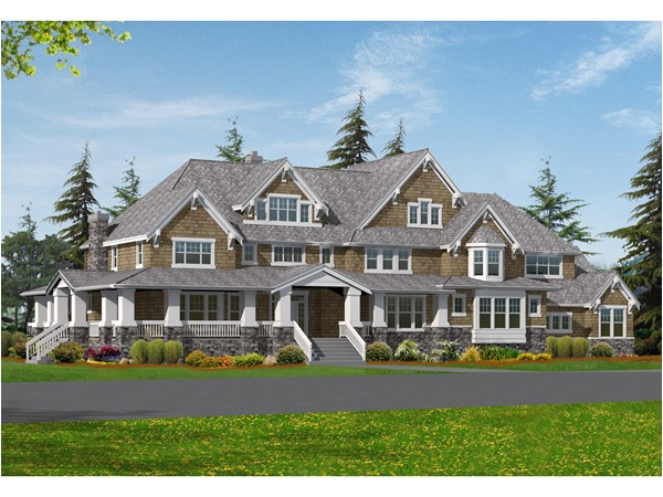 Large Craftsman Style Home Plans Craftsman House Plans Cottage House Plans