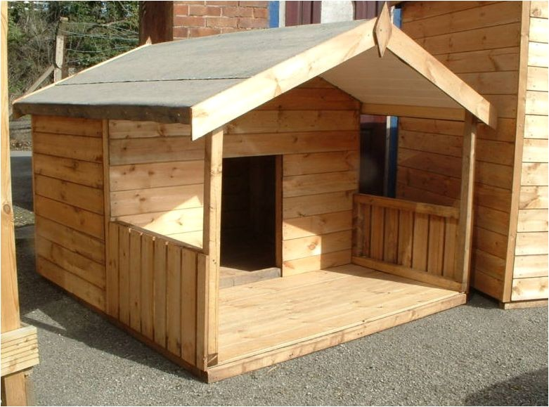 large dog house plans with porch