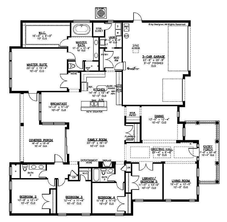 inspiring large kitchen house plans 9 large house floor plans