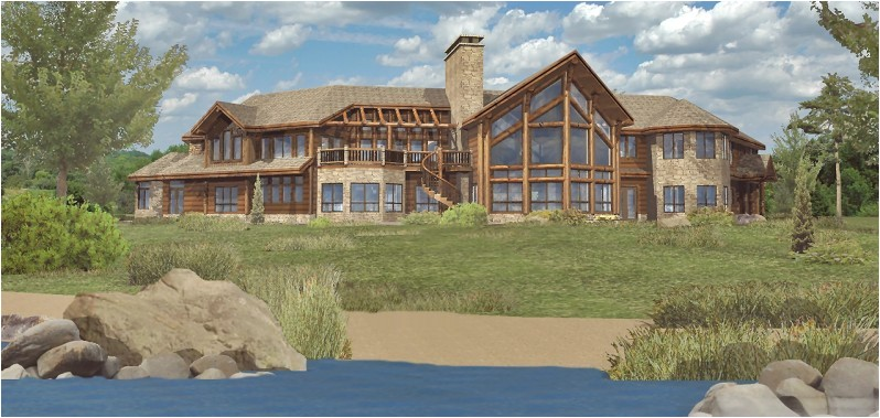 large log house plans