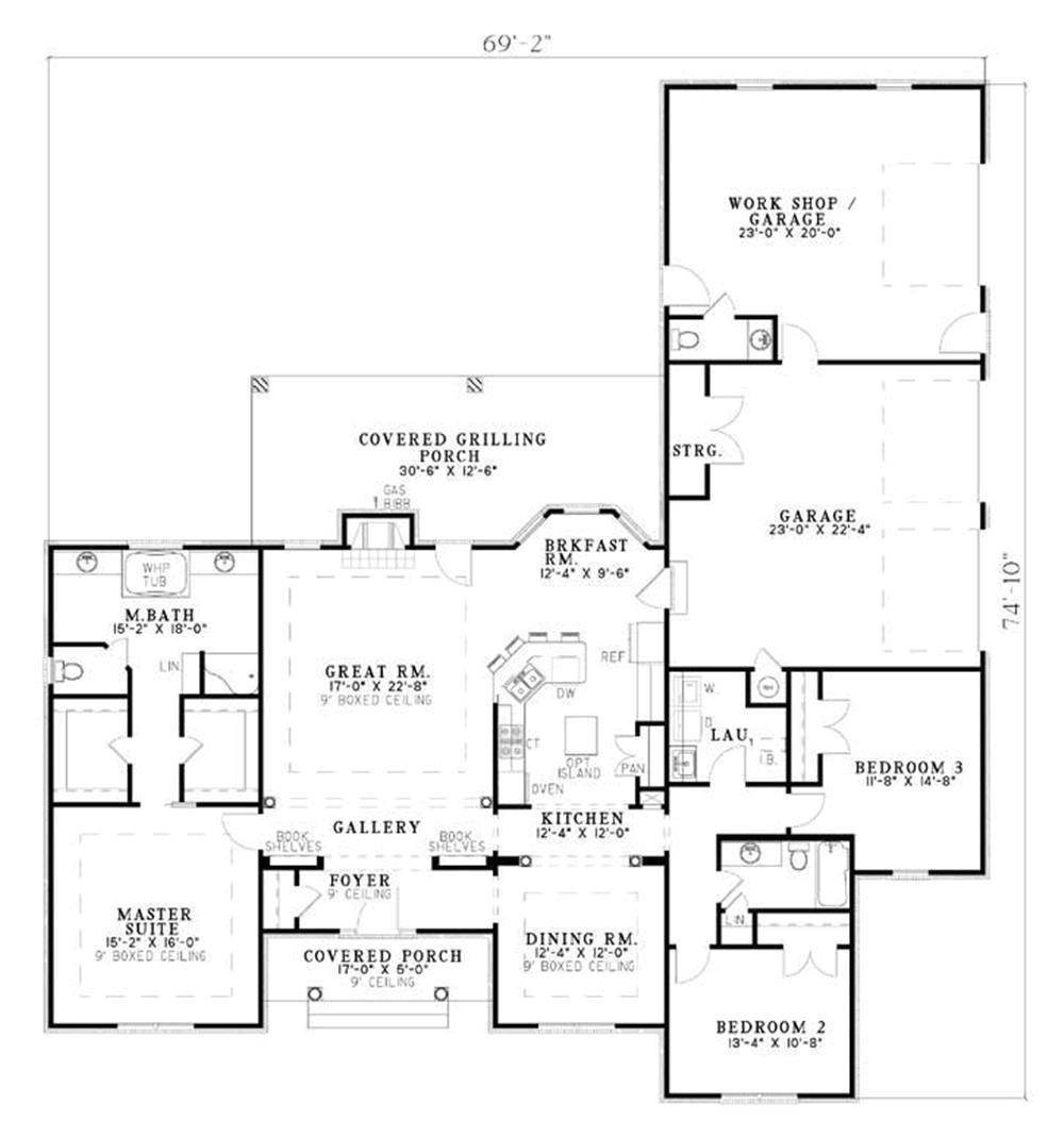 large ranch style house plans