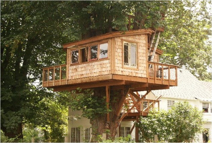 how to build a simple treehouse without a tree 2