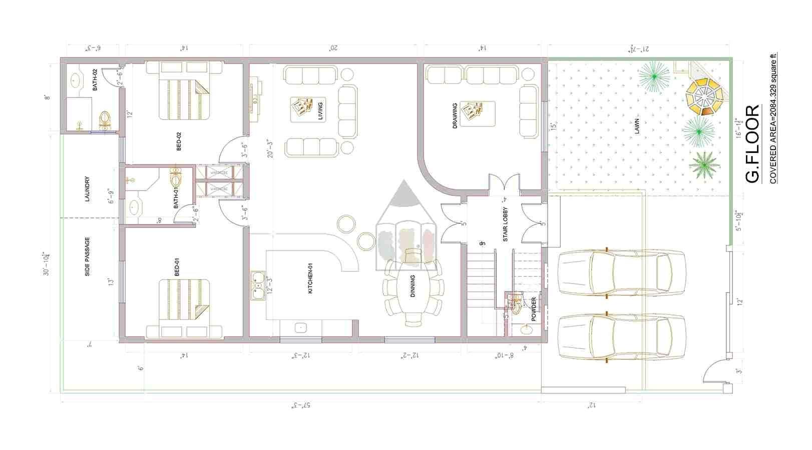 14 marla house plan layout