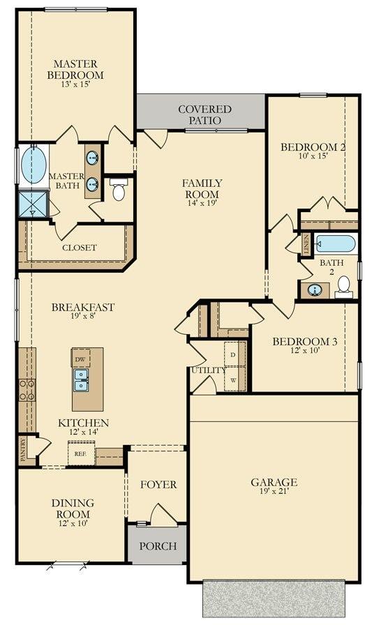 Lennar Homes Floor Plans Houston Lantana New Home Plan In Mccrary Meadows Wildflower