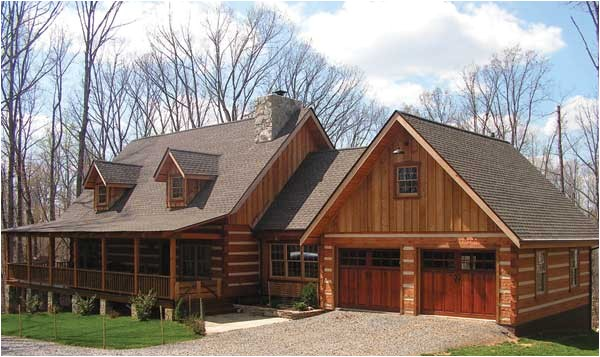 cabin house plans with attached garage
