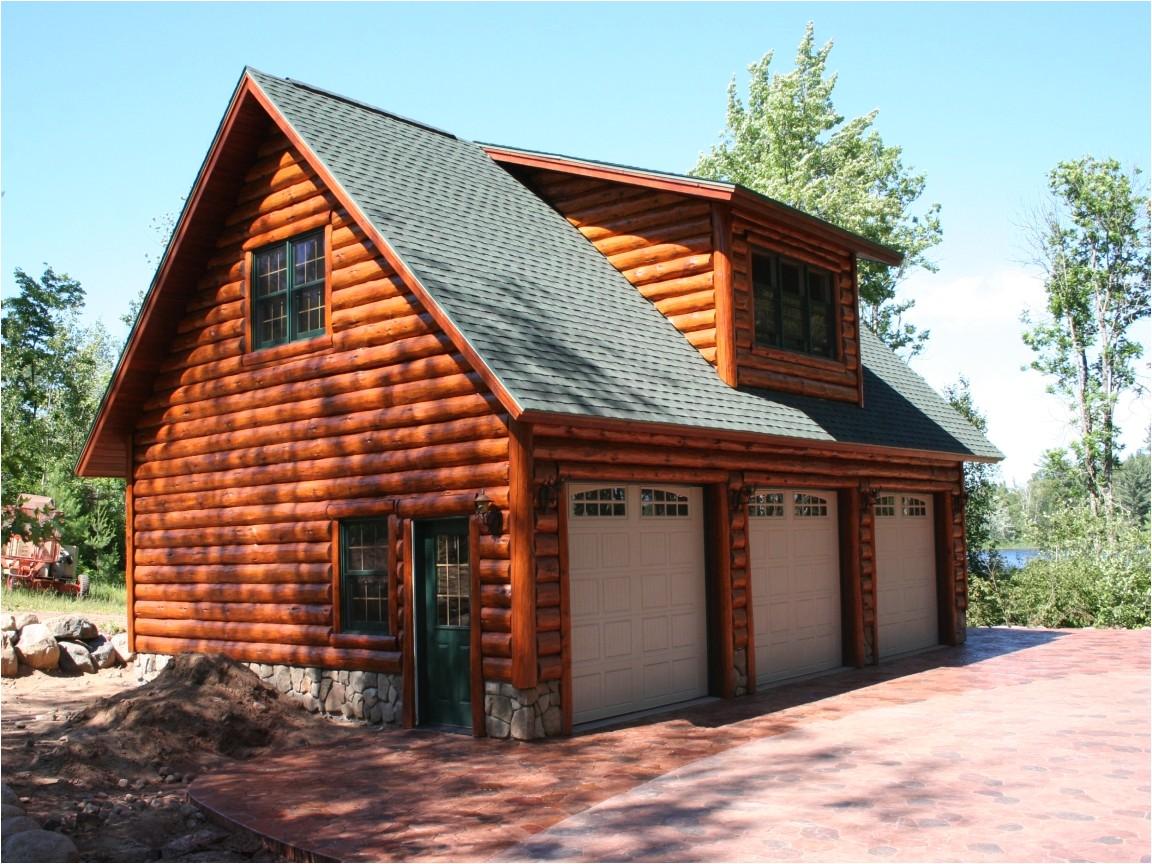32866ba6c8c8fa68 log cabin garage with lofts log cabin homes with garage