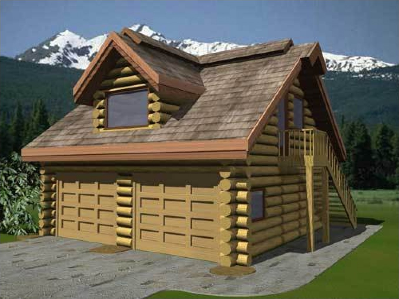 323894a598b5a3ab log cabin in the woods log cabin floor plans with garage