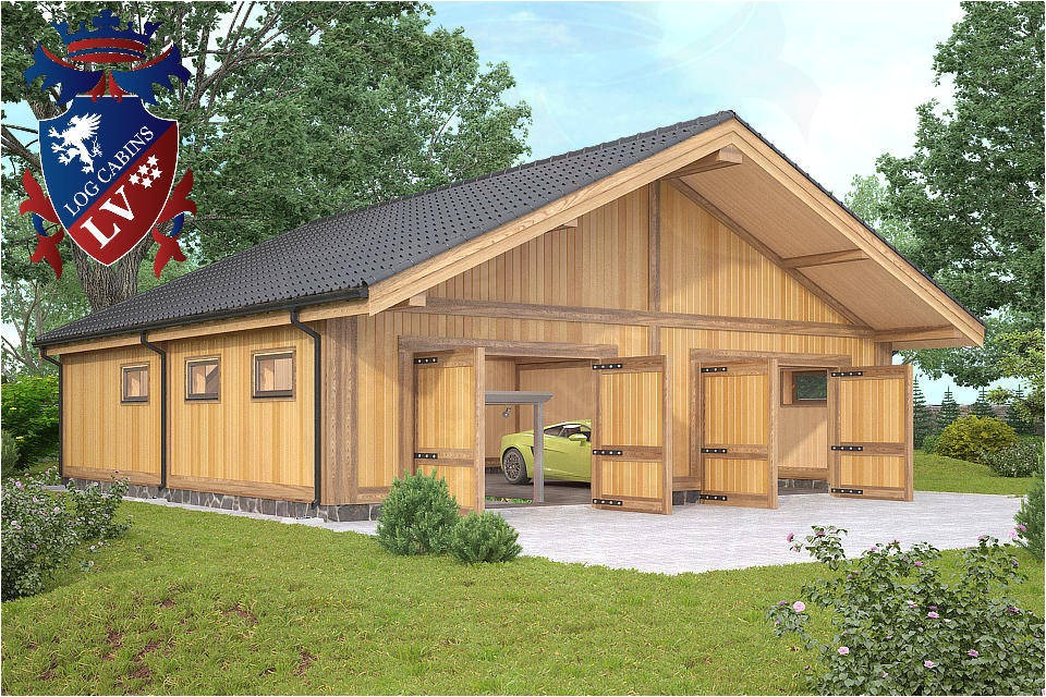 timber frame laminated garages from log cabins lv