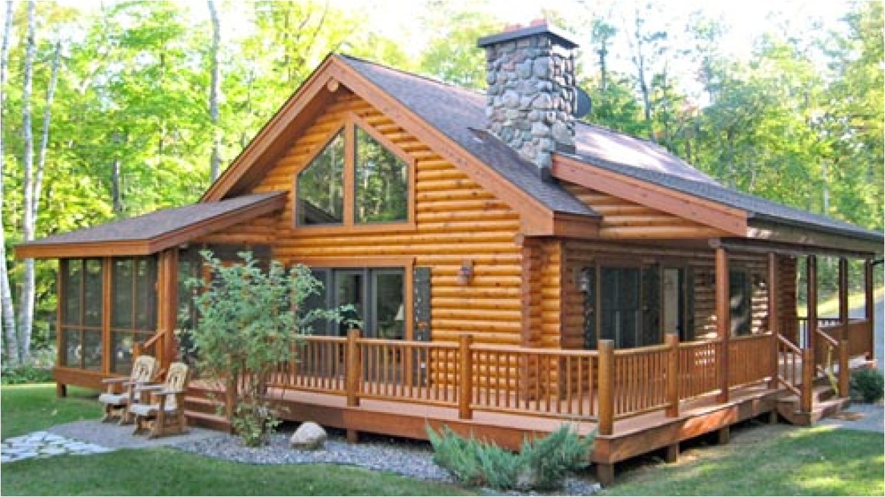 log cabin house plans wrap around porch