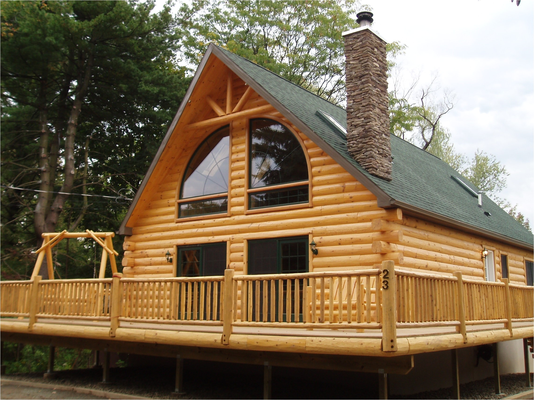 6389 small log cabins with wrap around porch