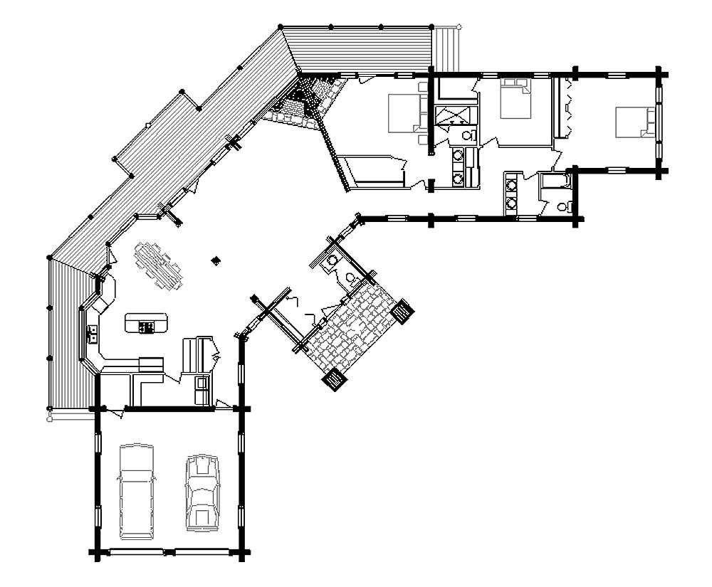small log cabin floor plans