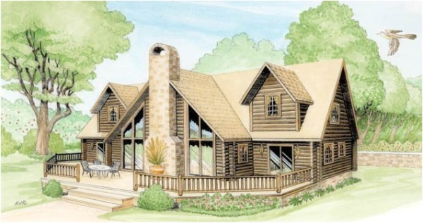 georgia log home plan