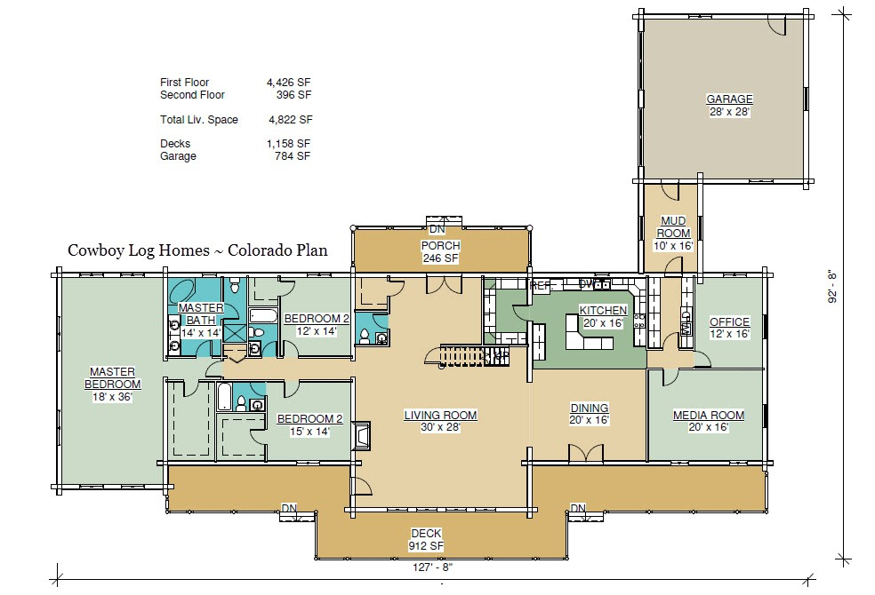 Log Homes Floor Plans Colorado Colorado Plan 4 822 Sq Ft Cowboy Log Homes