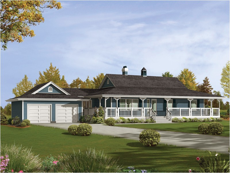 good long ranch style house plans
