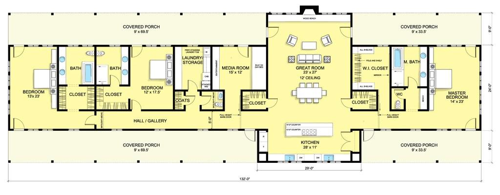 3645 square feet 3 bedroom 3 bathroom 0 garage country farmhouse 38229