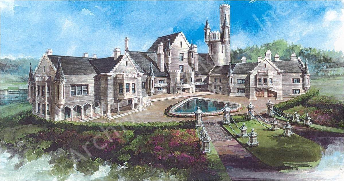 Luxury Castle Home Plans Balmoral Castle Plans Luxury Home Plans Lap Pools