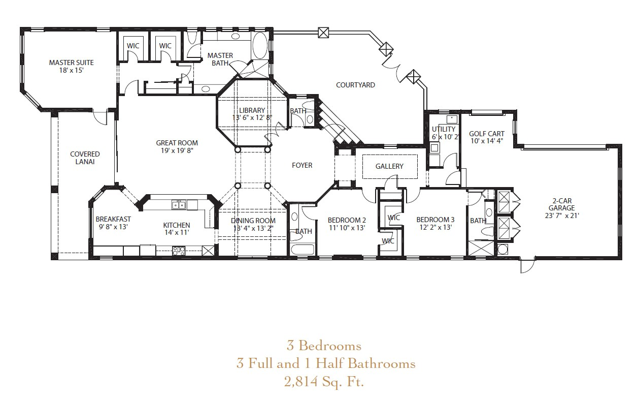 floor plans golf course homes