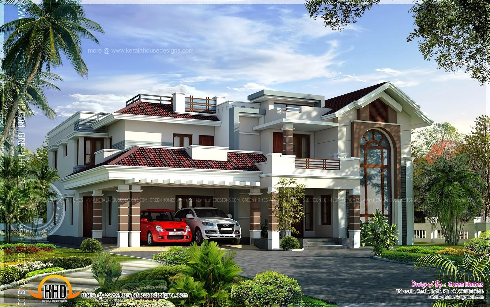 Luxury Homes Plans Designs 400 Square Yards Luxury Villa Design Kerala Home  Design