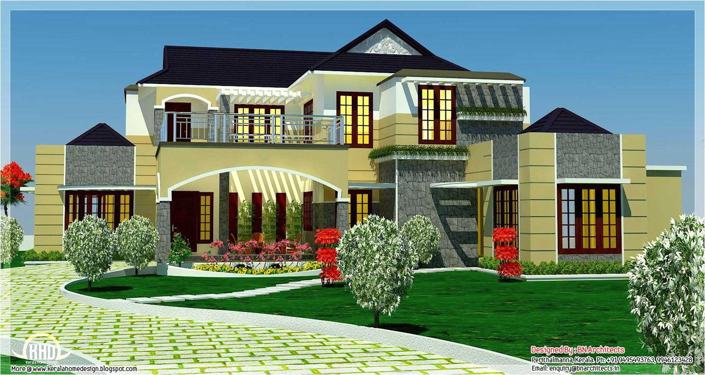 Luxury Homes Plans Designs 5 Bedroom Luxury Home In 2900 Sq Feet Home Appliance