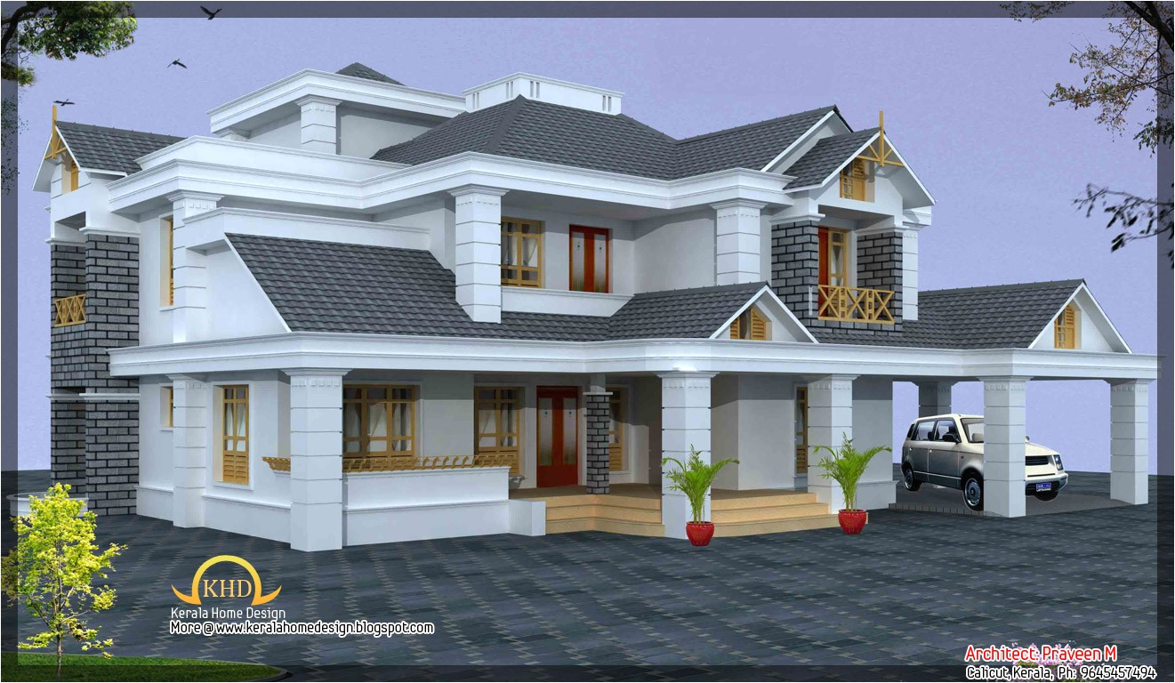 luxury home design elevation 4500 sq ft