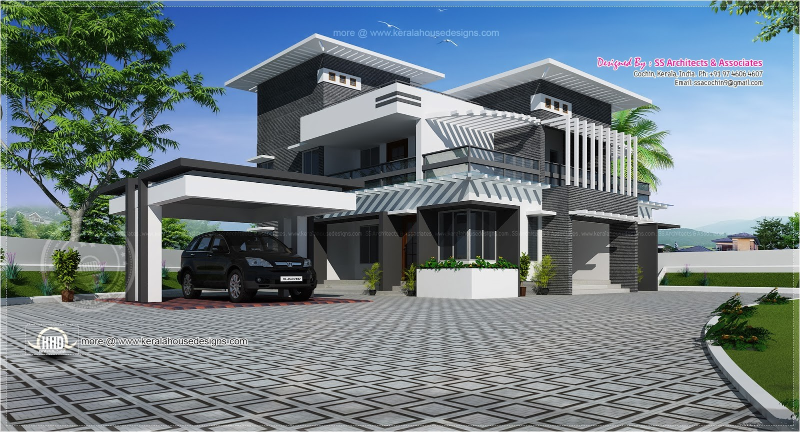 luxury modern house exterior design