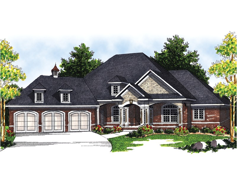 Luxury Ranch Home Plans Marmande Luxury Ranch Style Home Plan 051s 0048 House