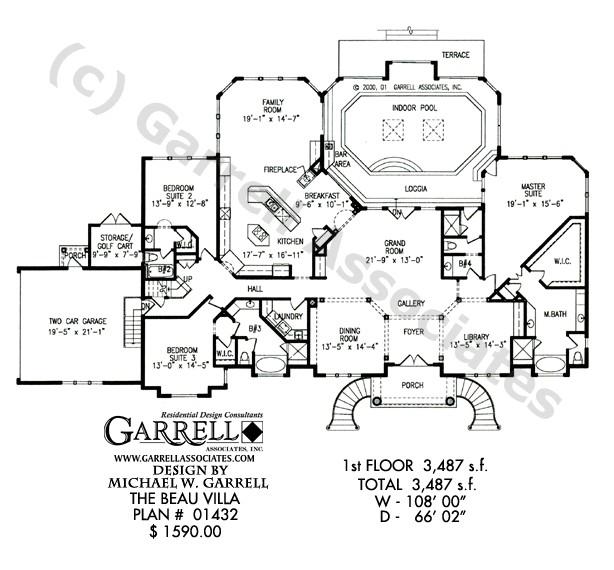 beau villa house plan