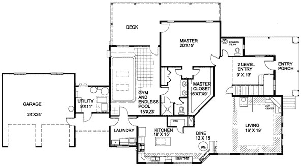 ranch house plans with indoor pool